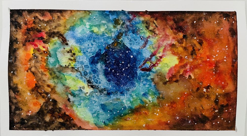 Modern watercolor technique - image 1 - student project