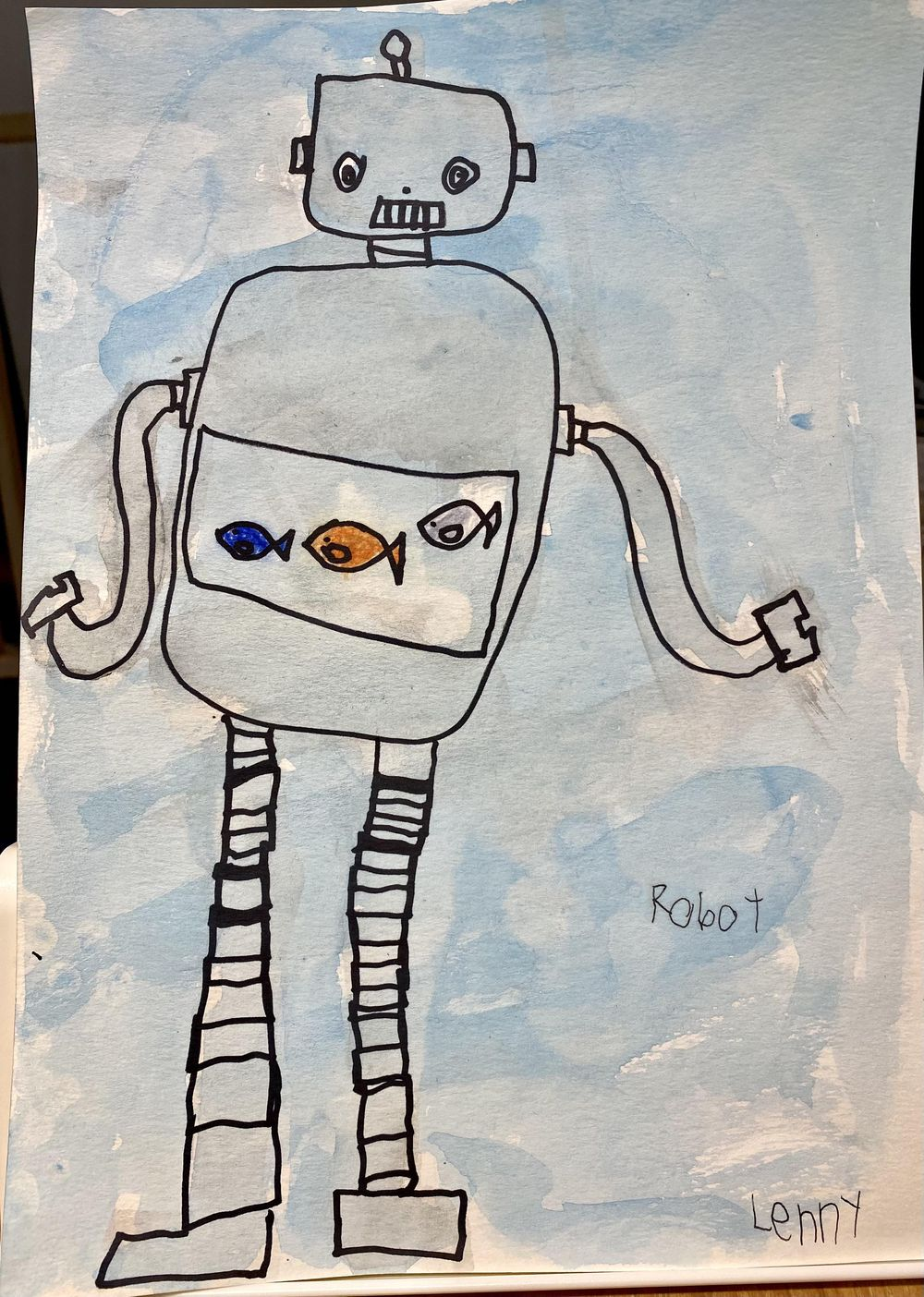 Robot with a fish tank by Lenny - image 1 - student project