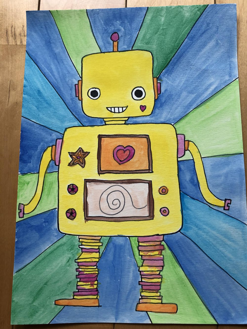 Robot with a fish tank by Lenny - image 2 - student project