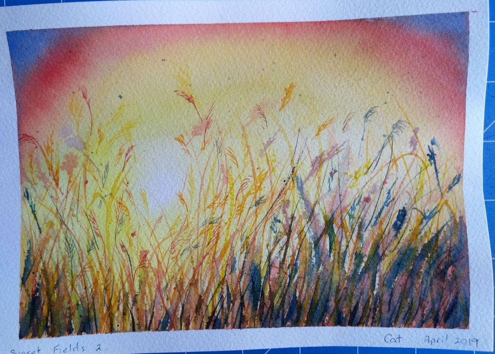 Trio of Sunset Fields - image 1 - student project