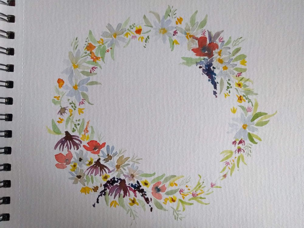 Soft Wildflower Wreath - image 1 - student project