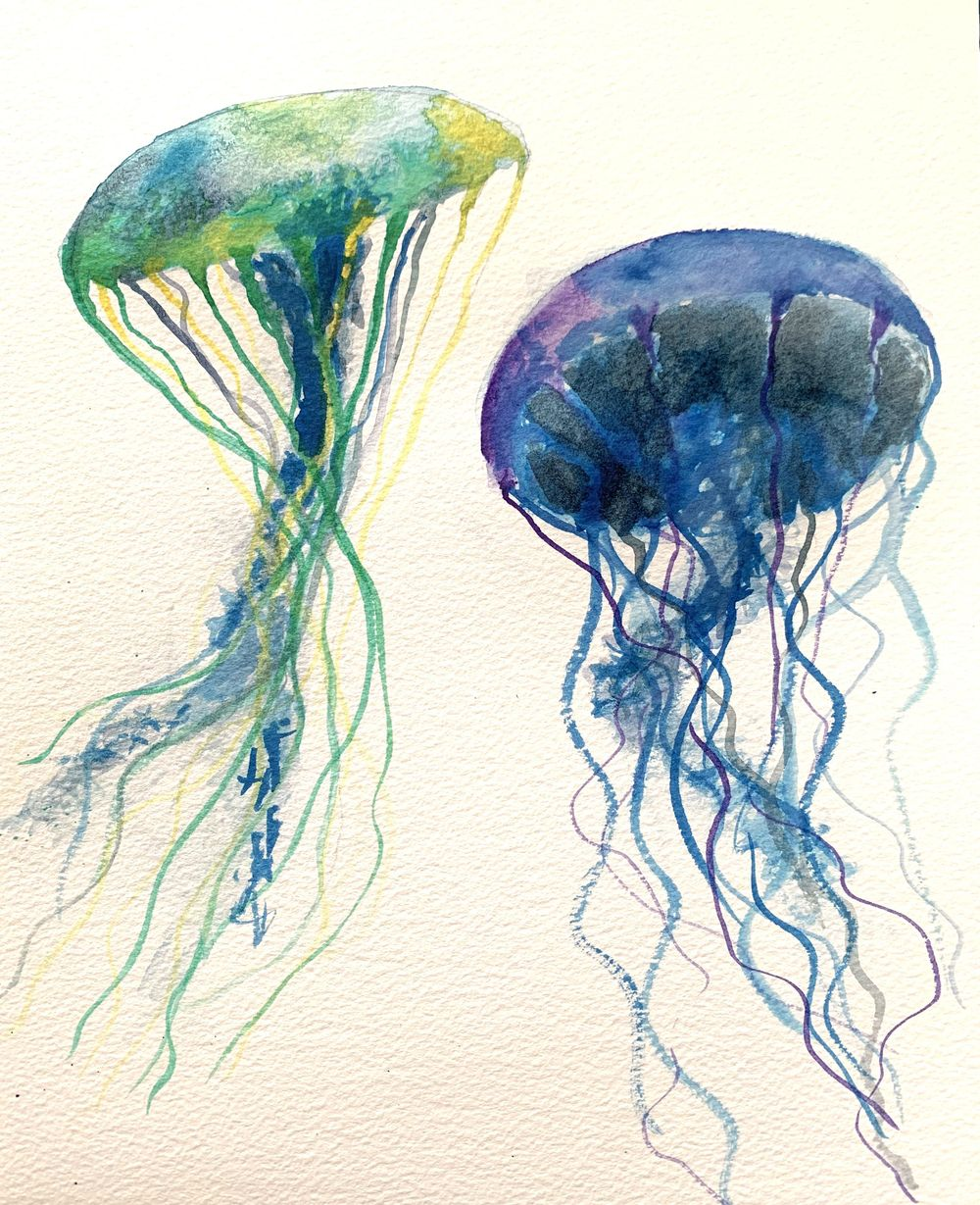Jellyfish and galaxy - image 2 - student project