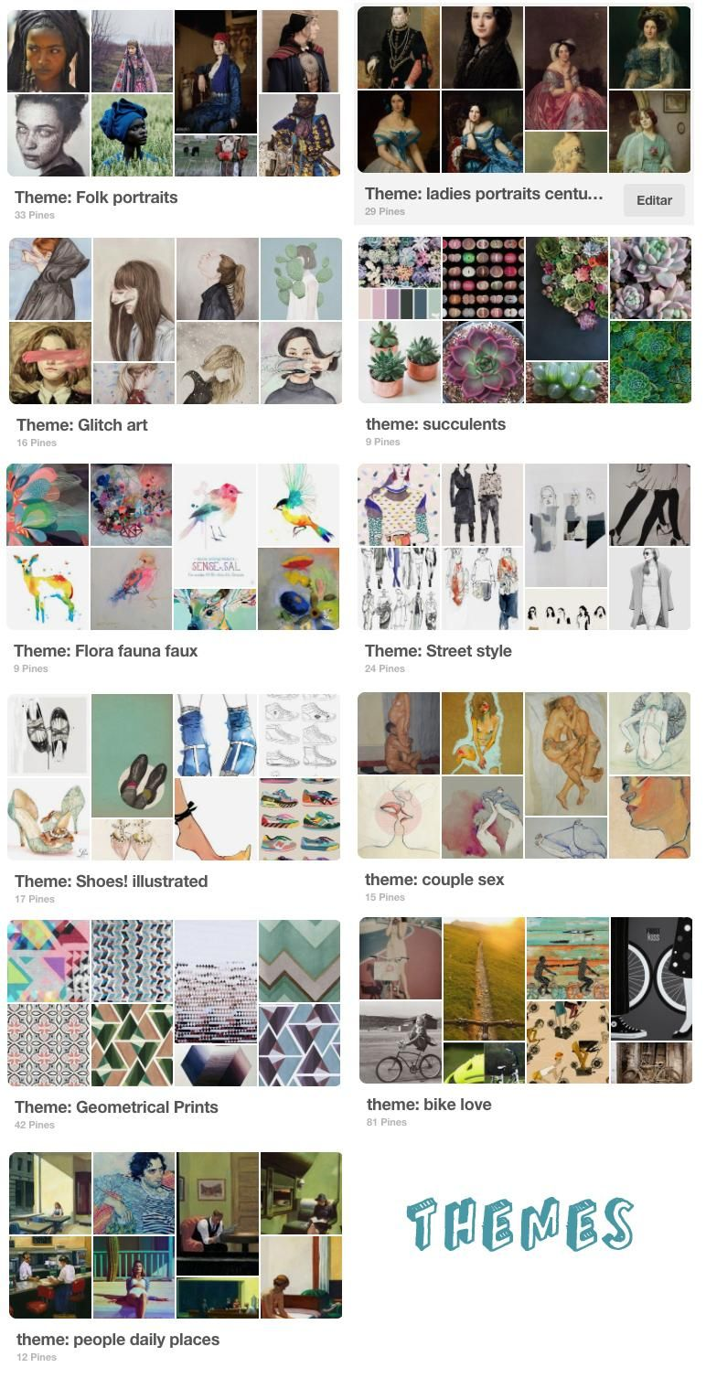 Inspirational Boards: themes, styles and elements of art - image 2 - student project