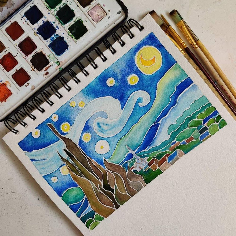 Recreating Van Gogh's 'Starry Night' - image 1 - student project