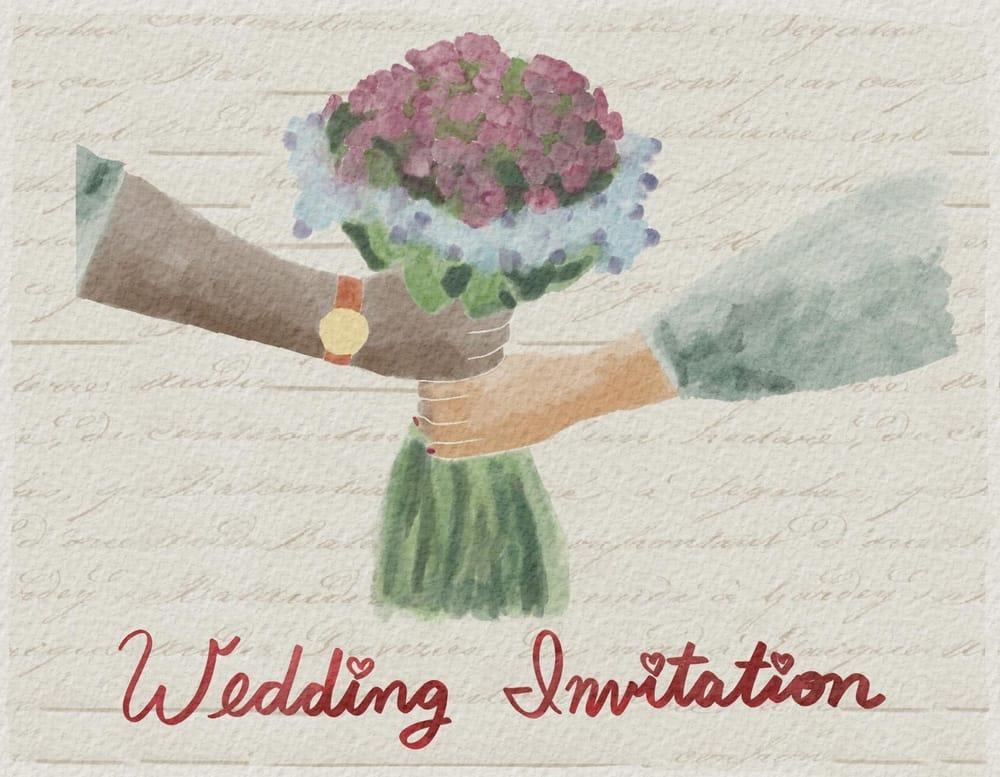Wedding invitation - image 1 - student project