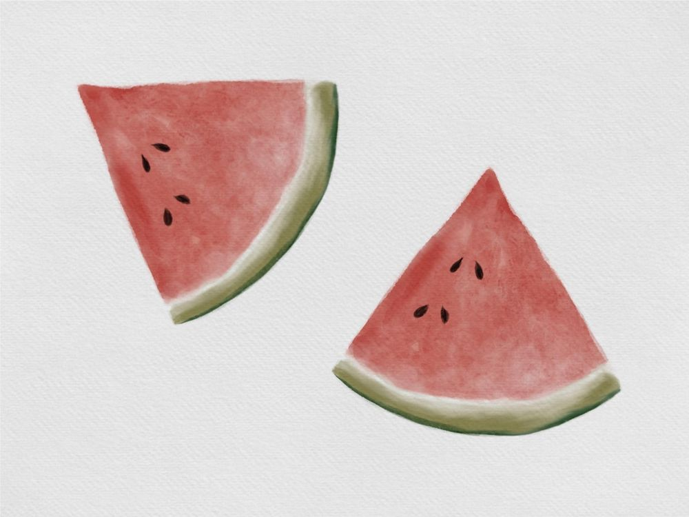 Watermelon watercolor - image 1 - student project