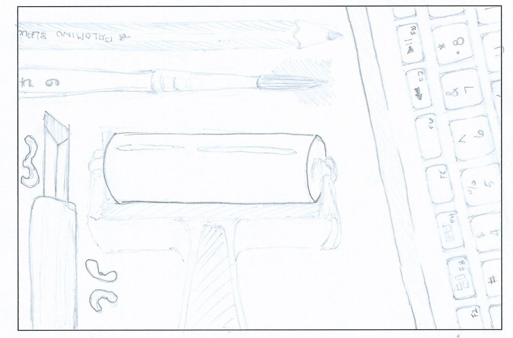 Pencils and Ink Postcard - image 1 - student project