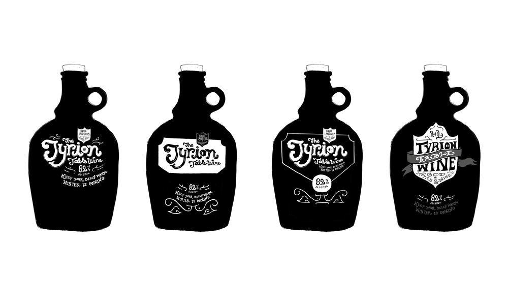Tyrion Table Wine Label - image 7 - student project