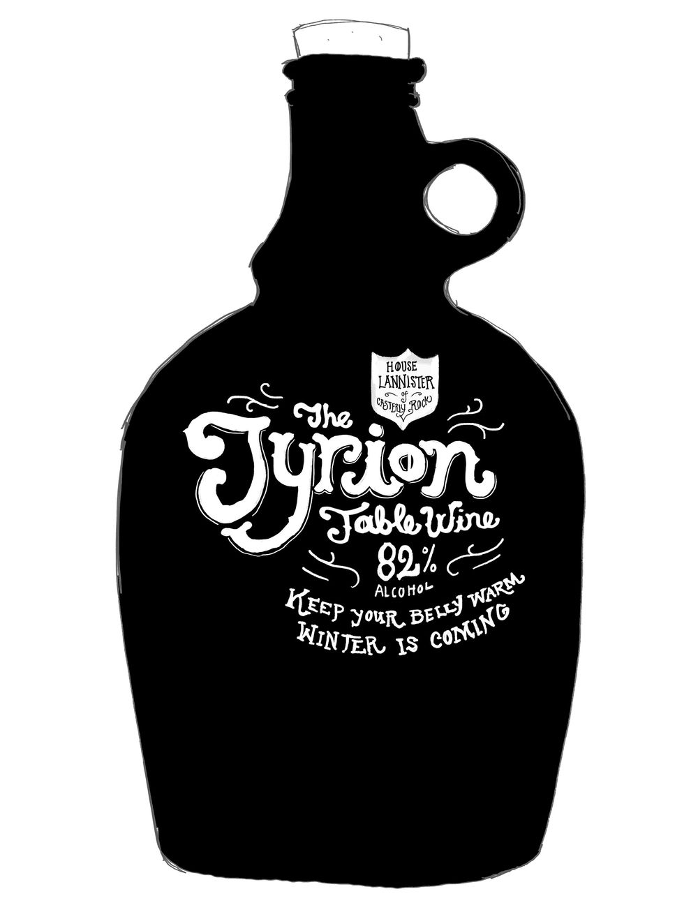 Tyrion Table Wine Label - image 8 - student project