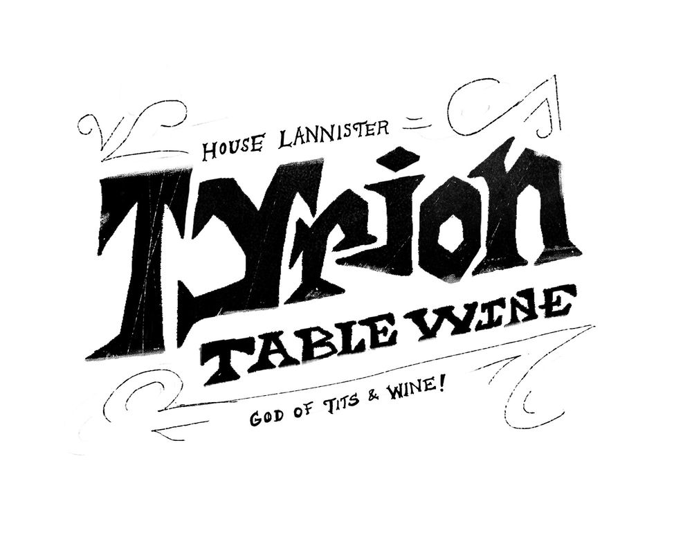 Tyrion Table Wine Label - image 3 - student project