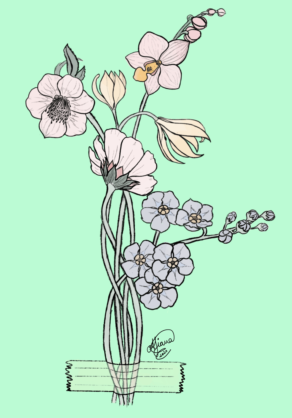 My first botanical illustration - image 1 - student project