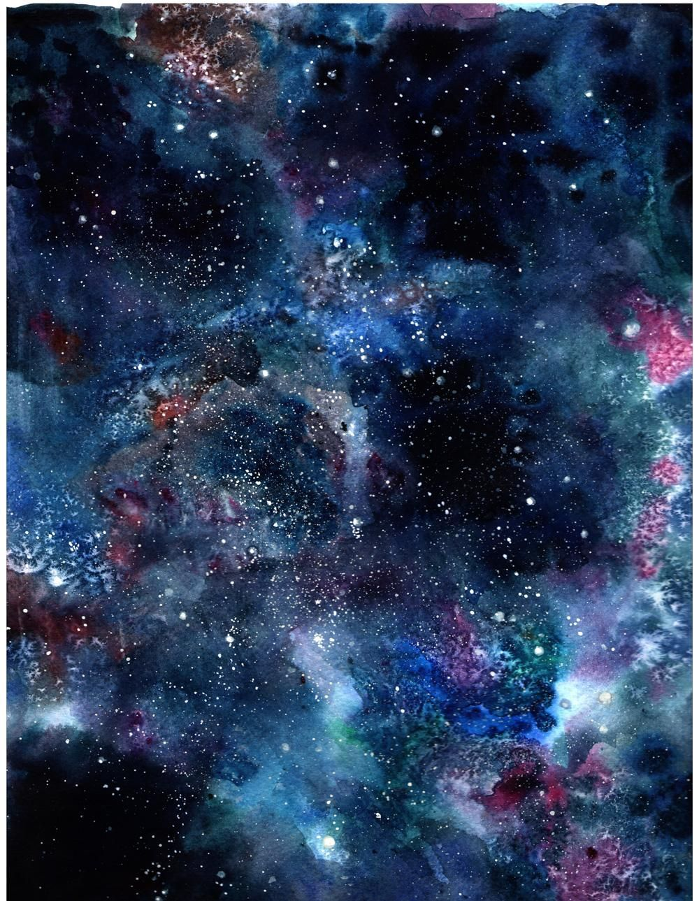 Galaxy Background / Christmas Card - image 2 - student project