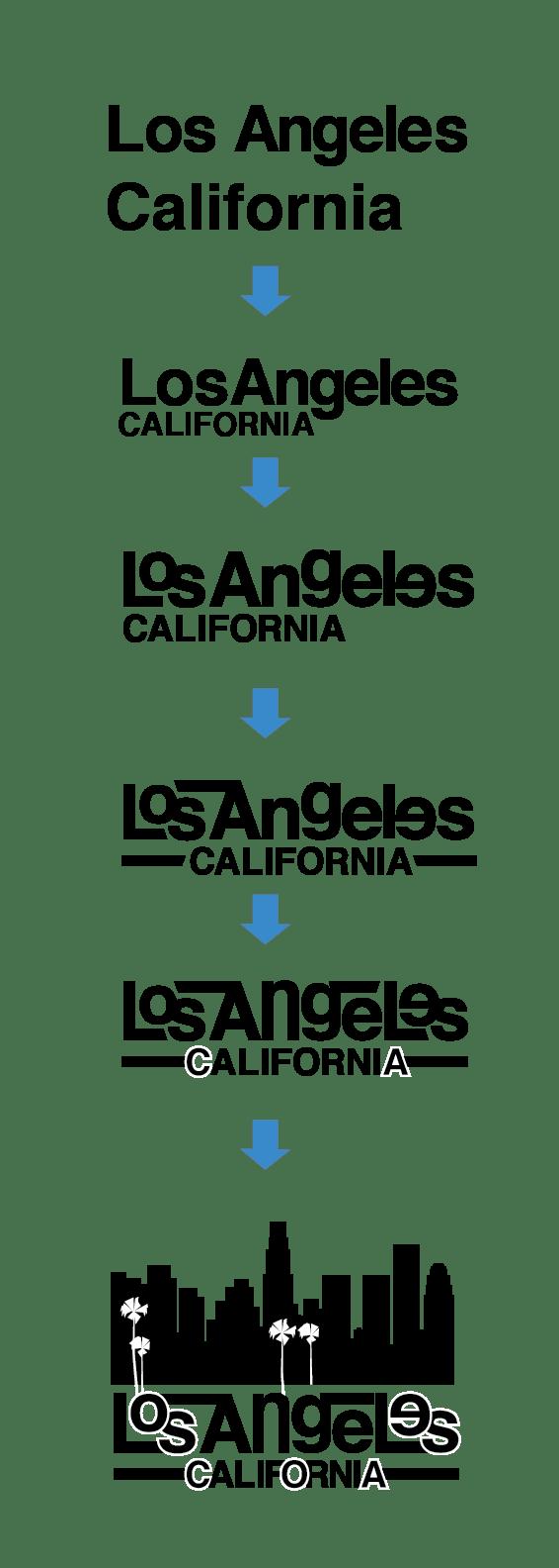 LA Wordmark - image 1 - student project