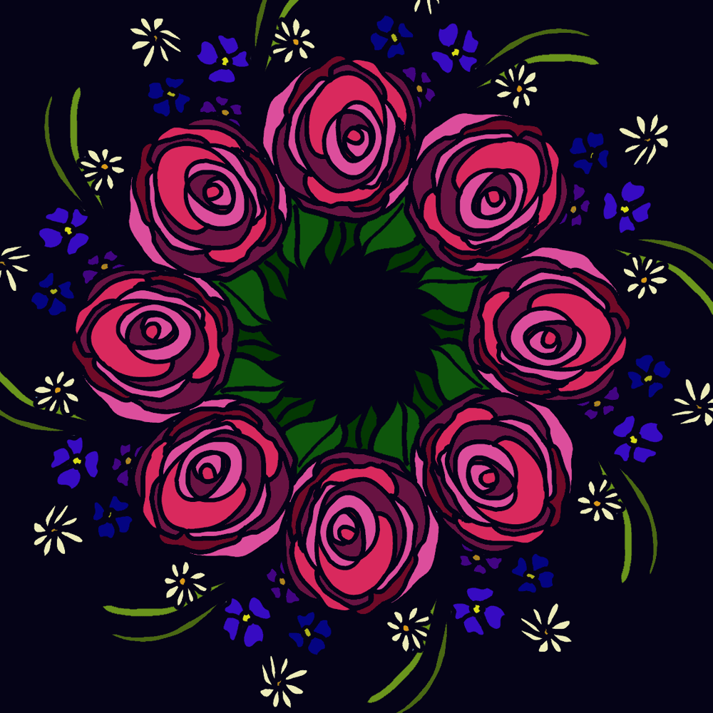 first rose wreath - image 1 - student project