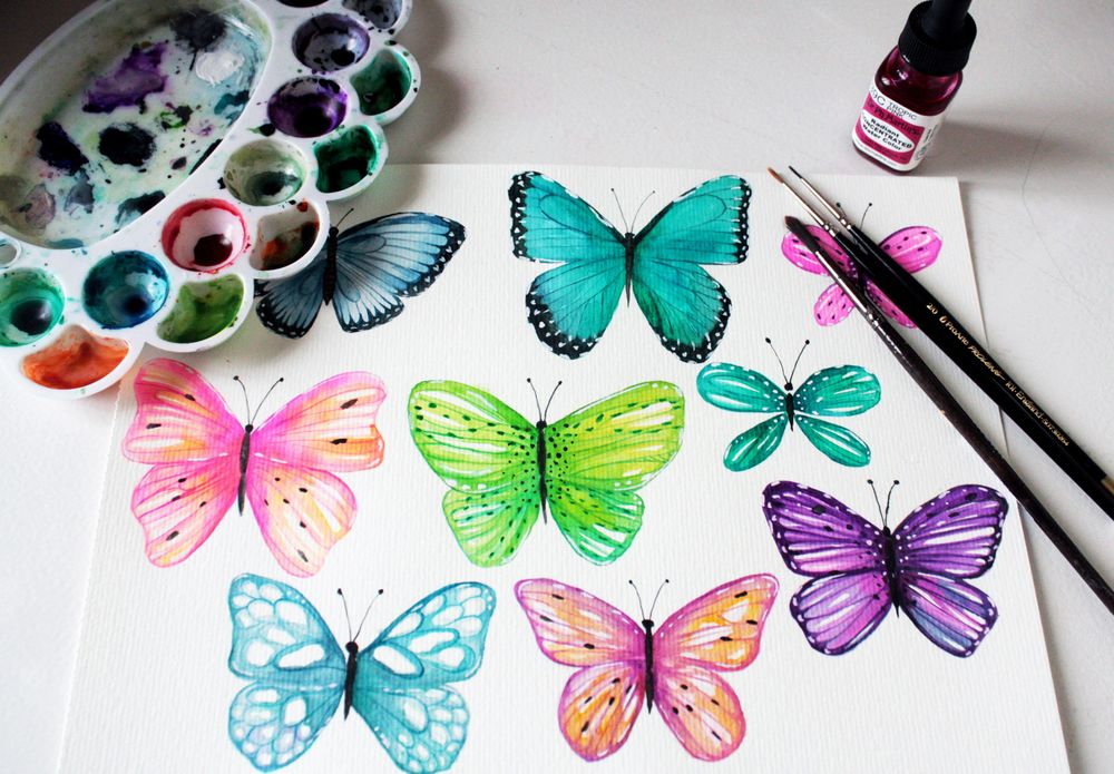 Playful Butterflies - image 2 - student project