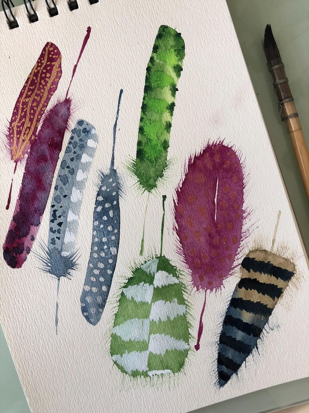 First time painting feathers! - image 1 - student project