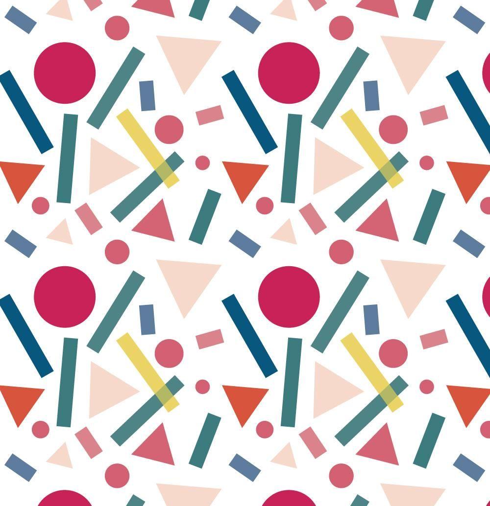 Geometric shapes pattern - image 3 - student project