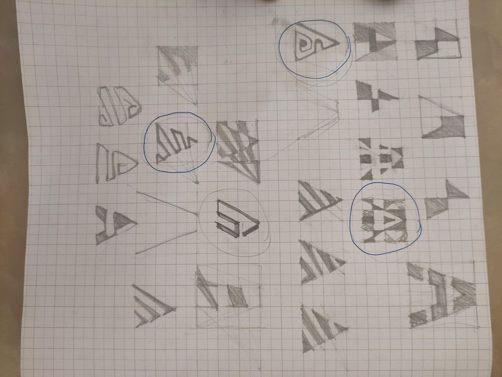 symbols derived from letter A - image 1 - student project