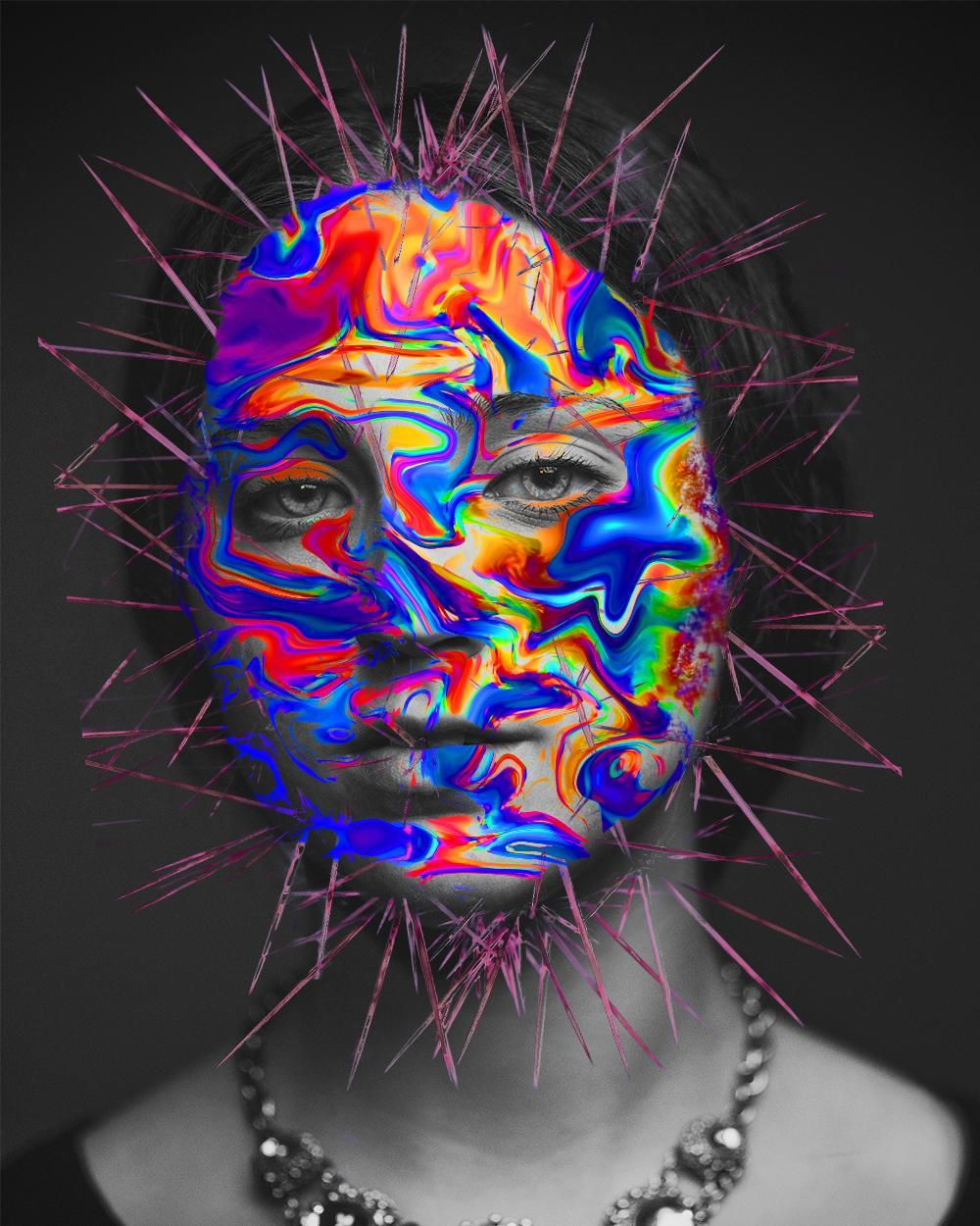 Psychedelic cactus girl - image 1 - student project