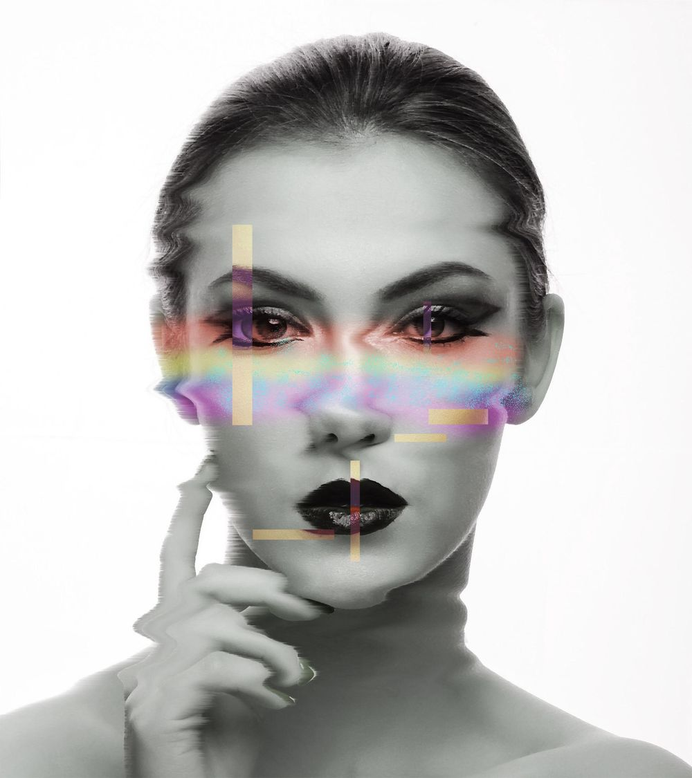 Glitch Face - image 1 - student project