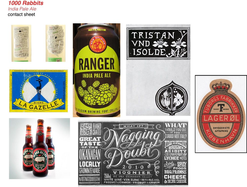 """""""1000 Rabbits India Pale Ale"""" Mood Board - image 1 - student project"""