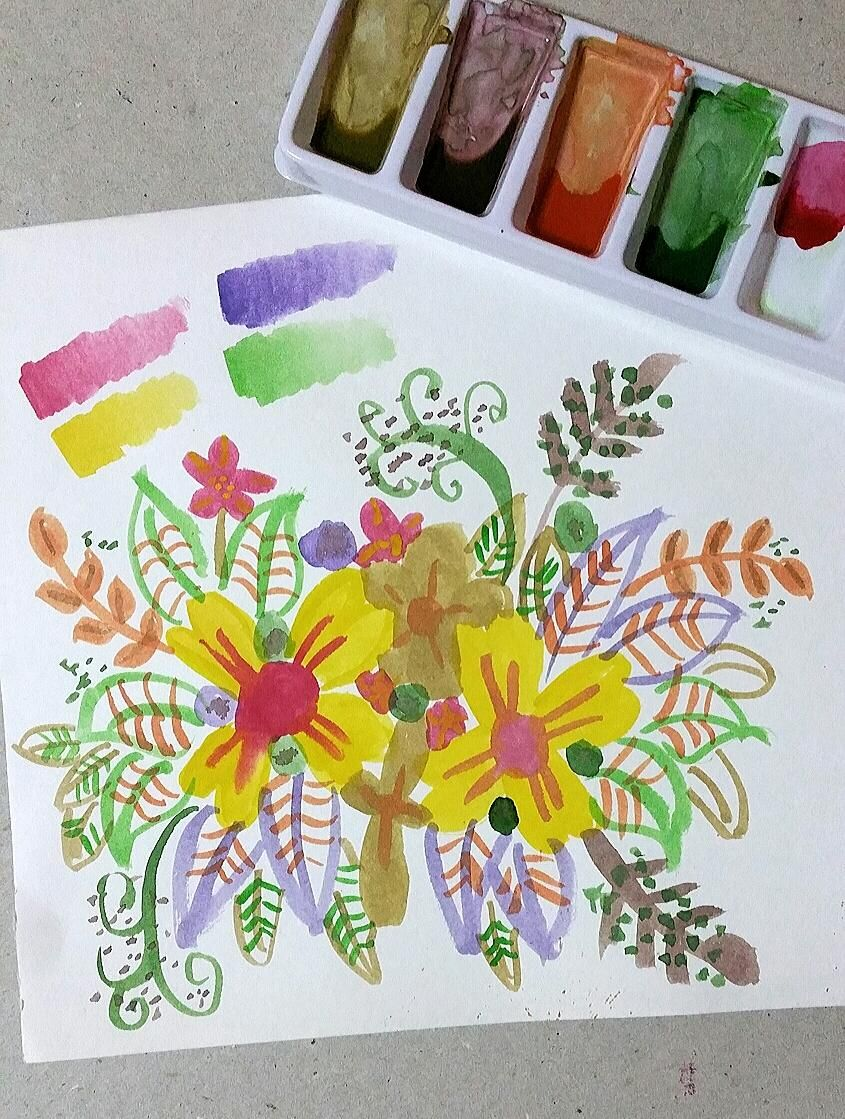 My Floral Colour Mixing - image 1 - student project
