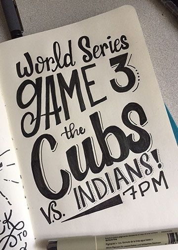 Lettering for the Cubs! - image 3 - student project