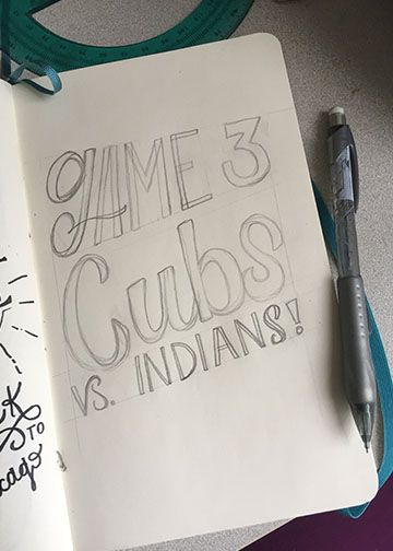 Lettering for the Cubs! - image 2 - student project