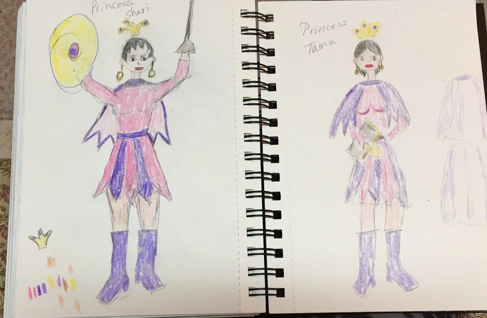 Princesses Shari and Tamu - image 2 - student project