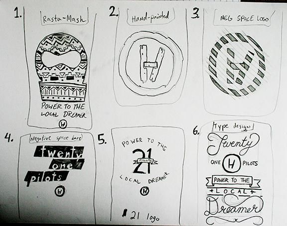 Twenty One Pilots beginning sketches and designs - image 1 - student project