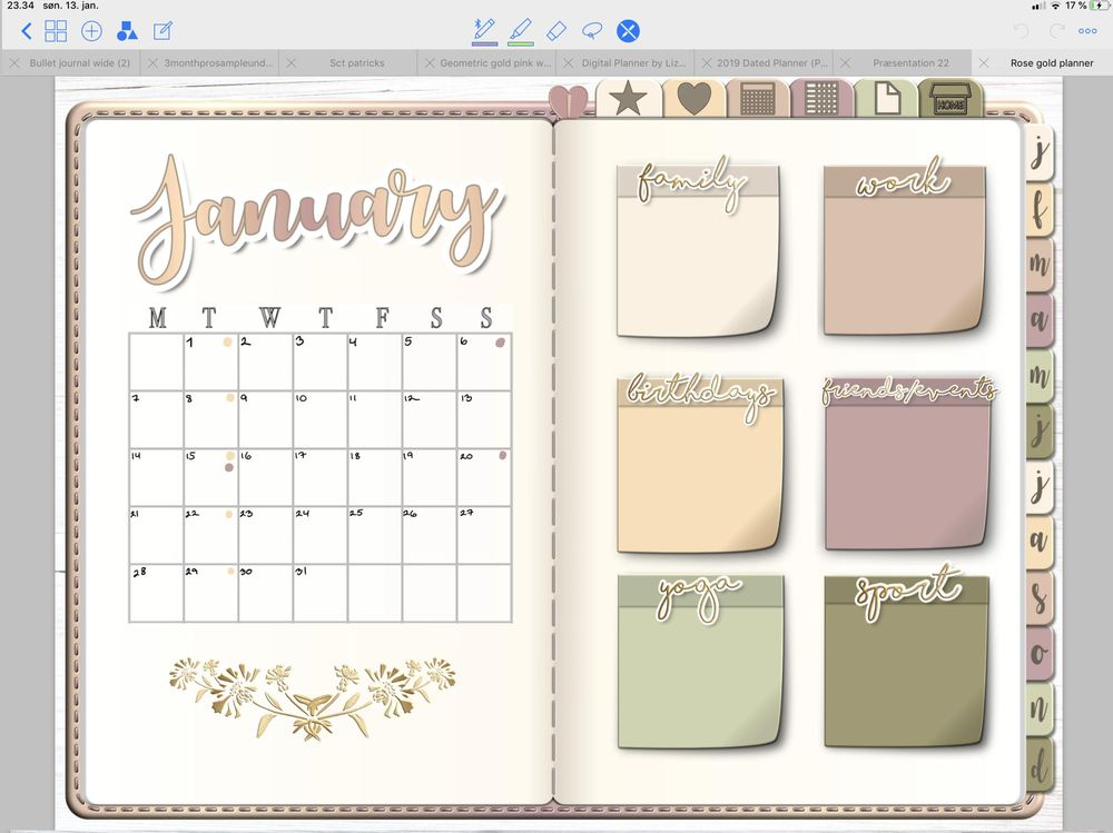 pages in my new planner - image 3 - student project