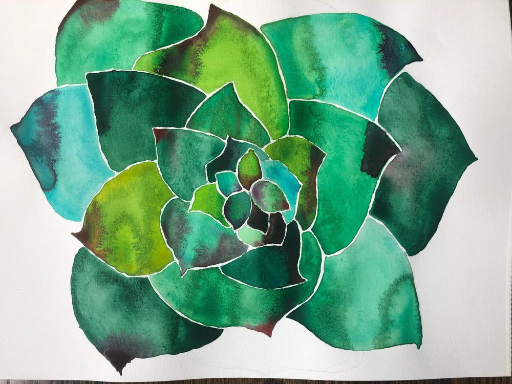 Modern Botanical Watercolors - What a Blast! - image 7 - student project