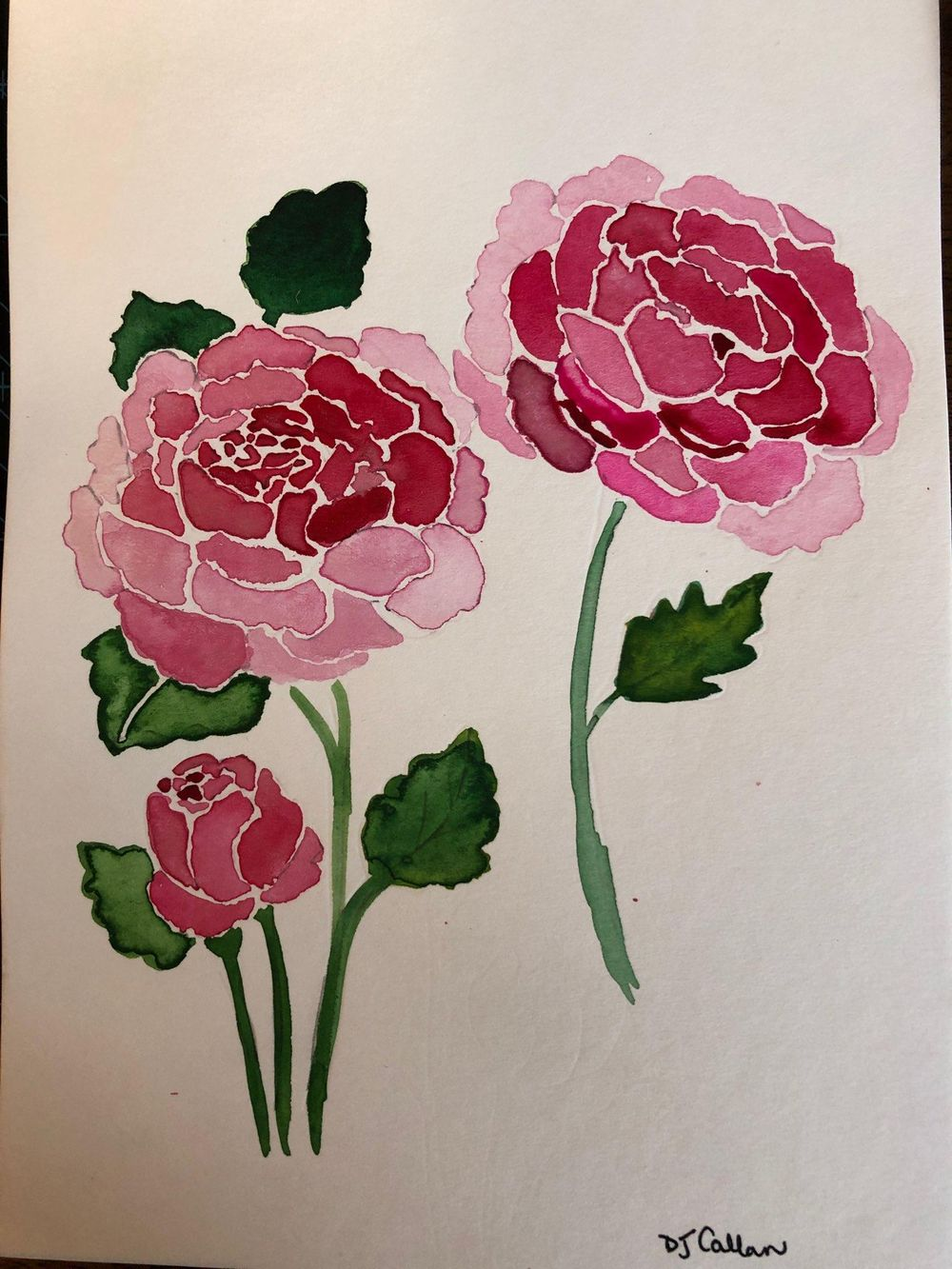 Modern Botanical Watercolors - What a Blast! - image 8 - student project