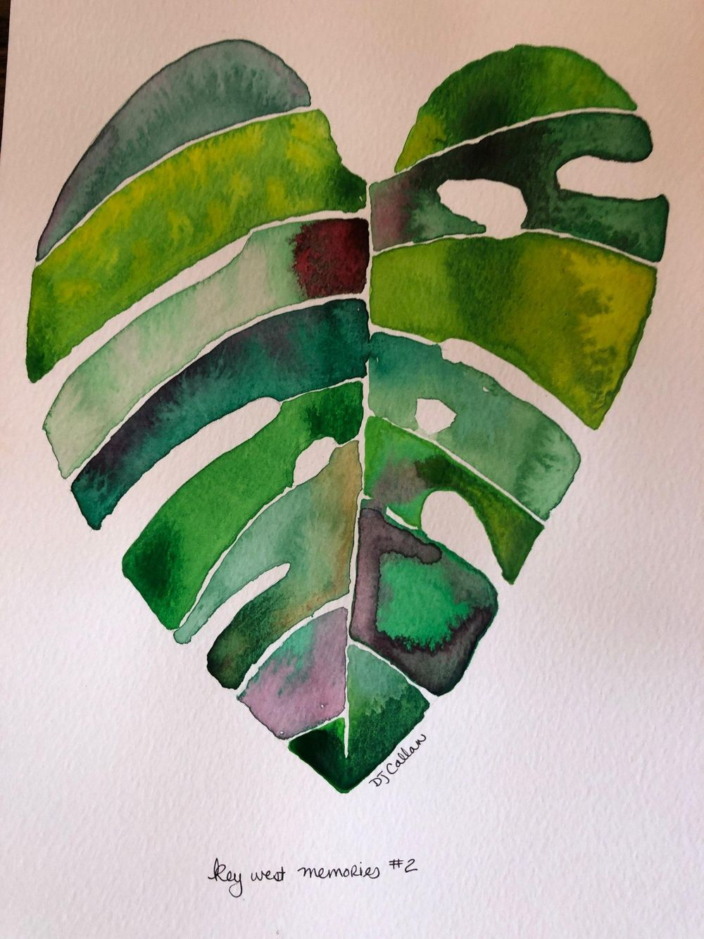 Modern Botanical Watercolors - What a Blast! - image 2 - student project
