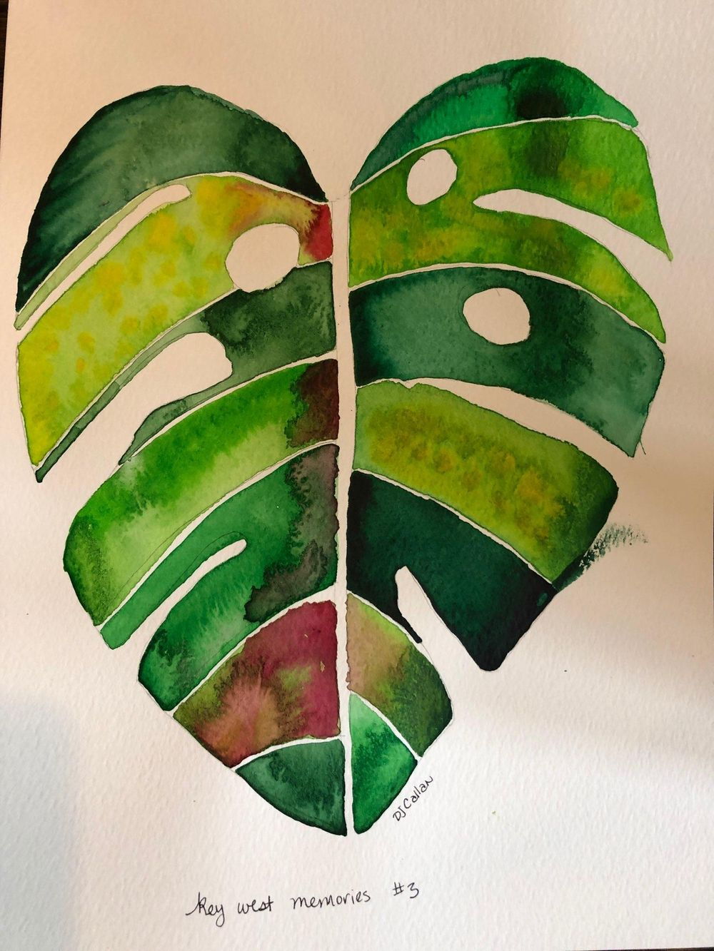 Modern Botanical Watercolors - What a Blast! - image 3 - student project