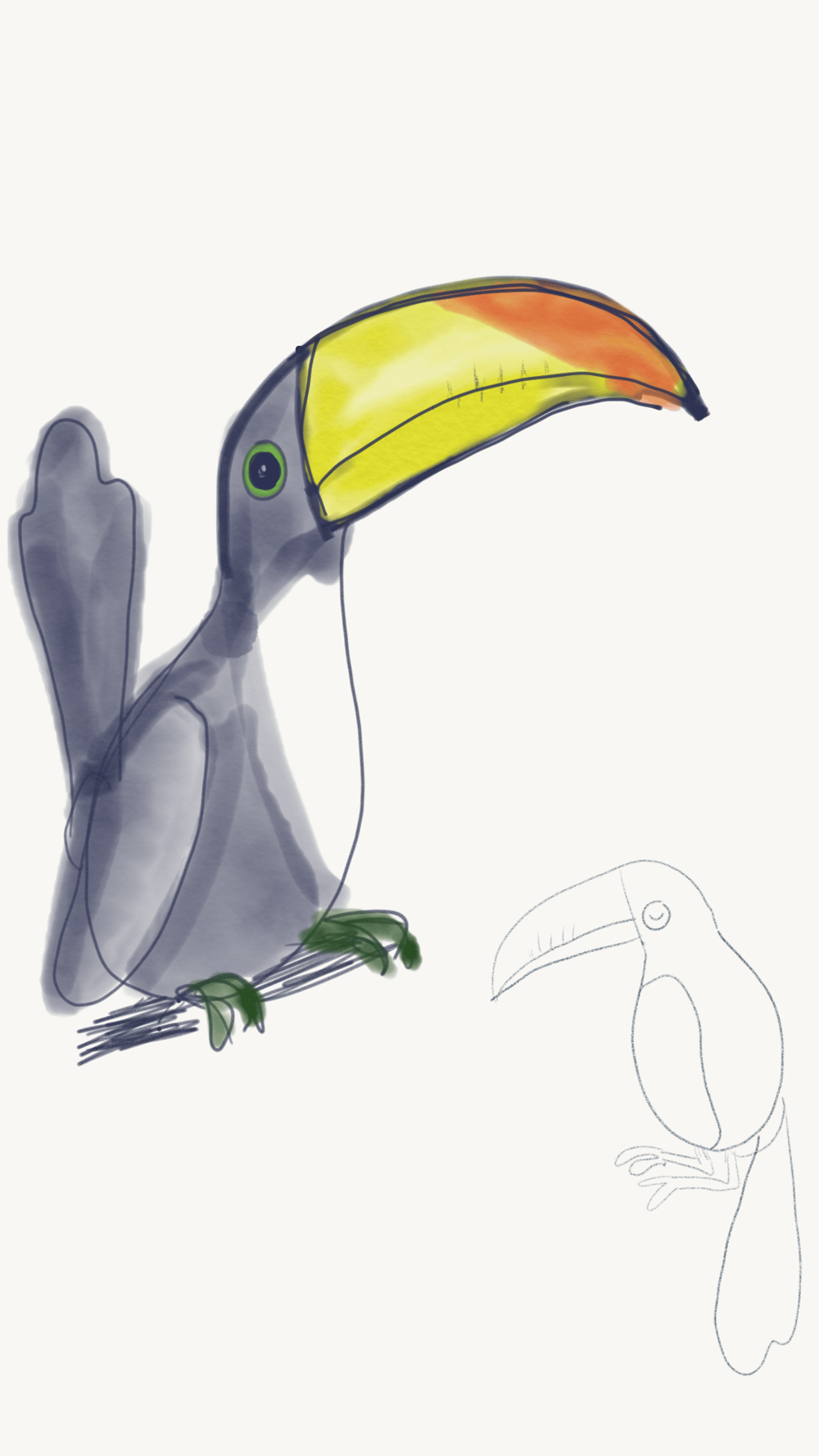 Hipster Toucan - image 4 - student project