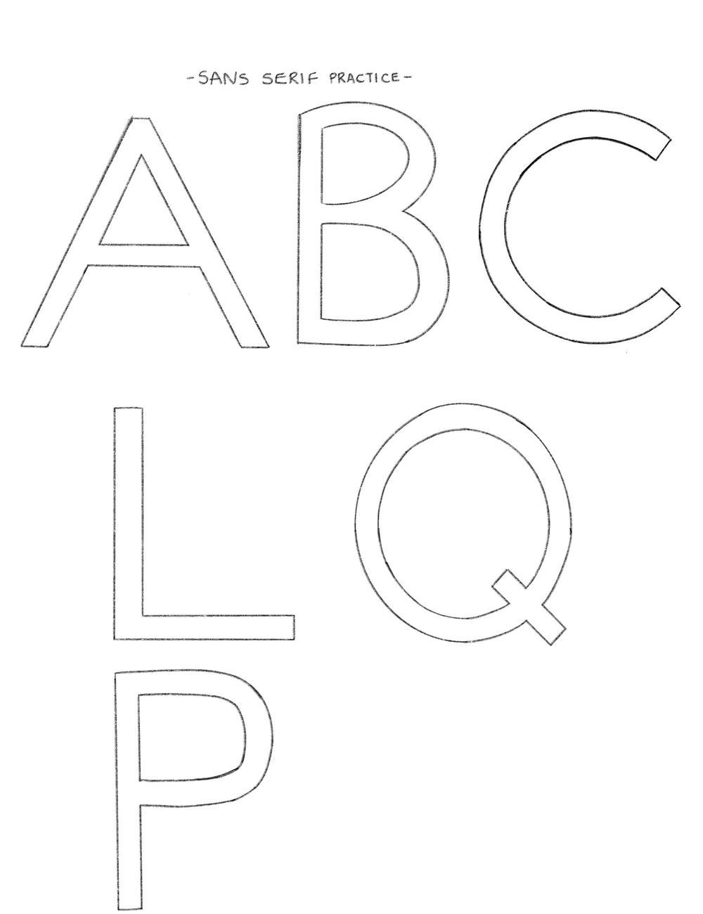 Lettering Exercises - image 5 - student project