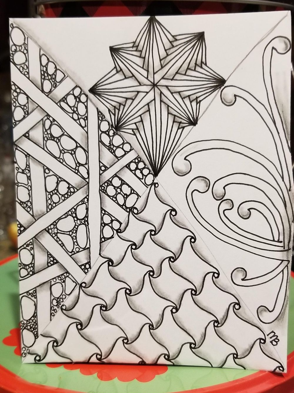 Beginning the year with zentangle - image 1 - student project