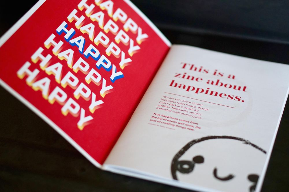 The Happy Zine - image 2 - student project
