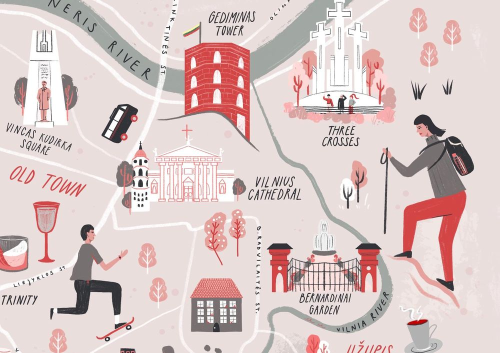 Vilnius, Lithuania - Illustrated map - image 9 - student project