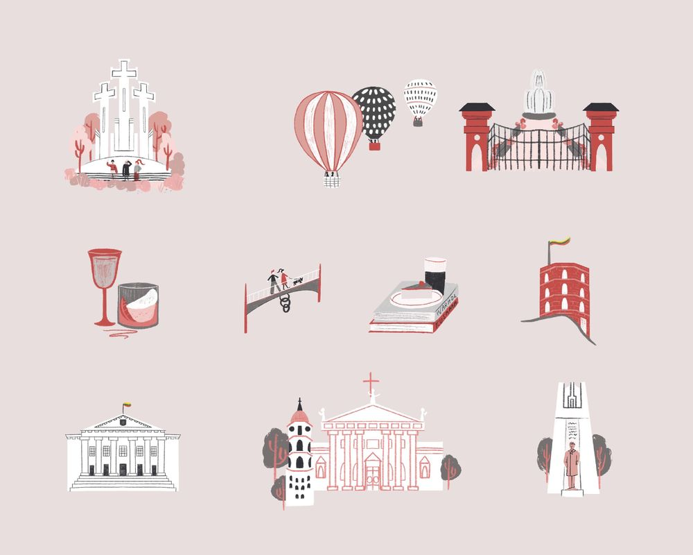 Vilnius, Lithuania - Illustrated map - image 3 - student project
