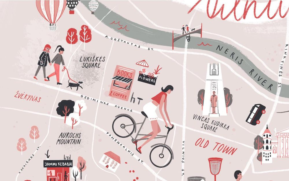 Vilnius, Lithuania - Illustrated map - image 8 - student project