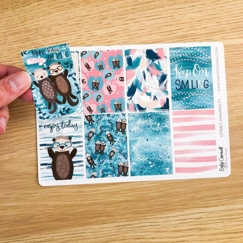 Otterly Adorable Planner Sticker Sheet - image 1 - student project