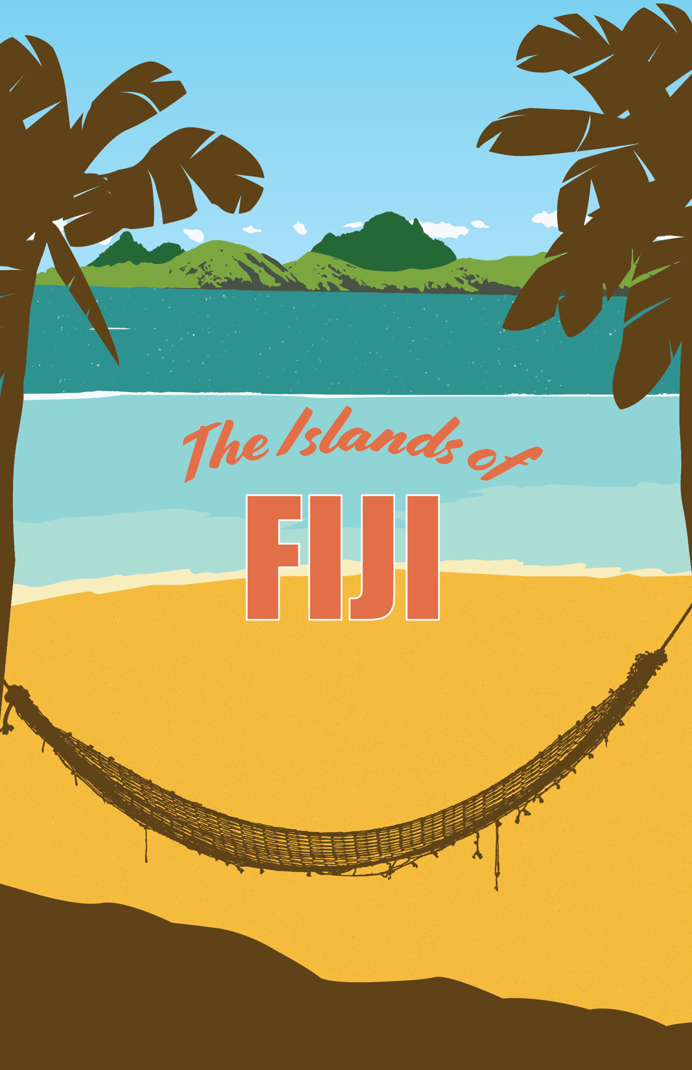 Fiji Travel Poster - image 2 - student project