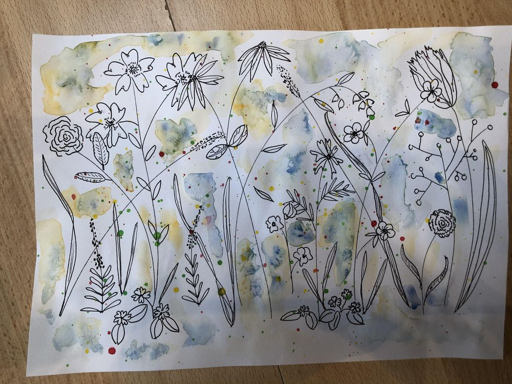Ink & Watercolor Doodles - image 2 - student project