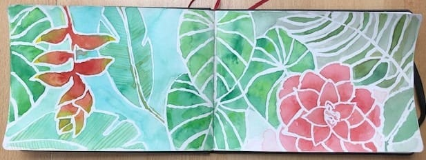 Tropical leaves - image 2 - student project