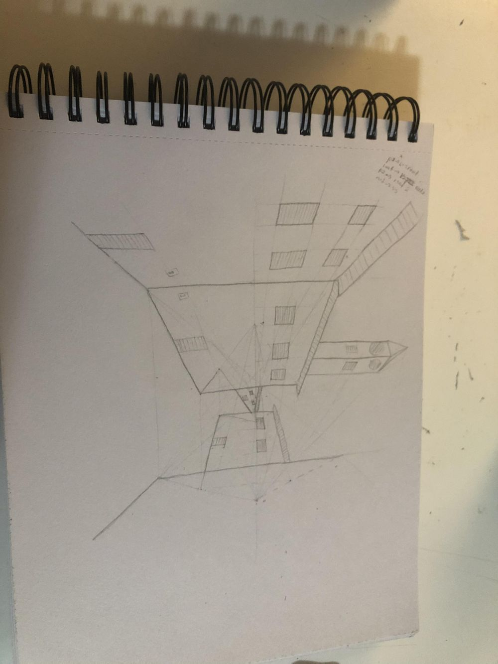 Forshortening perspective 1,2 and architectural perspective - image 3 - student project