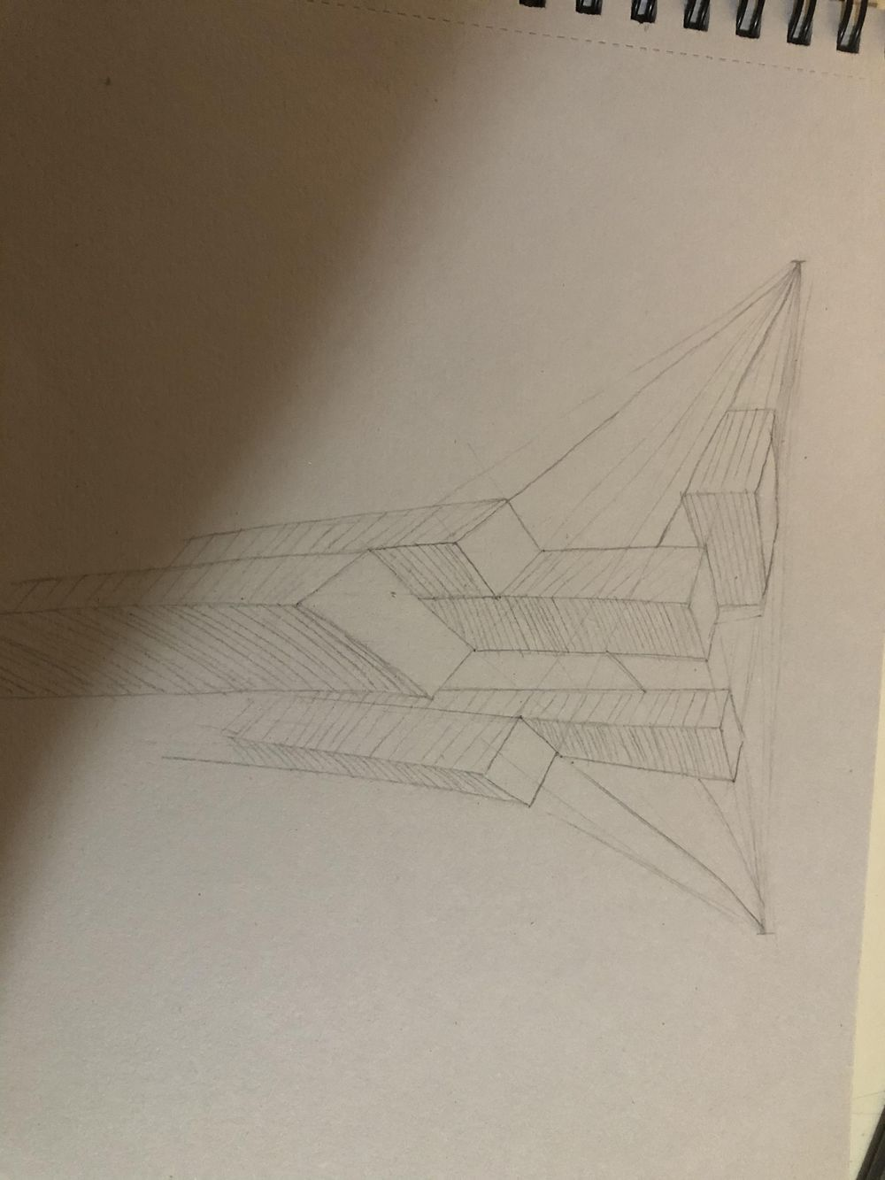 Forshortening perspective 1,2 and architectural perspective - image 1 - student project