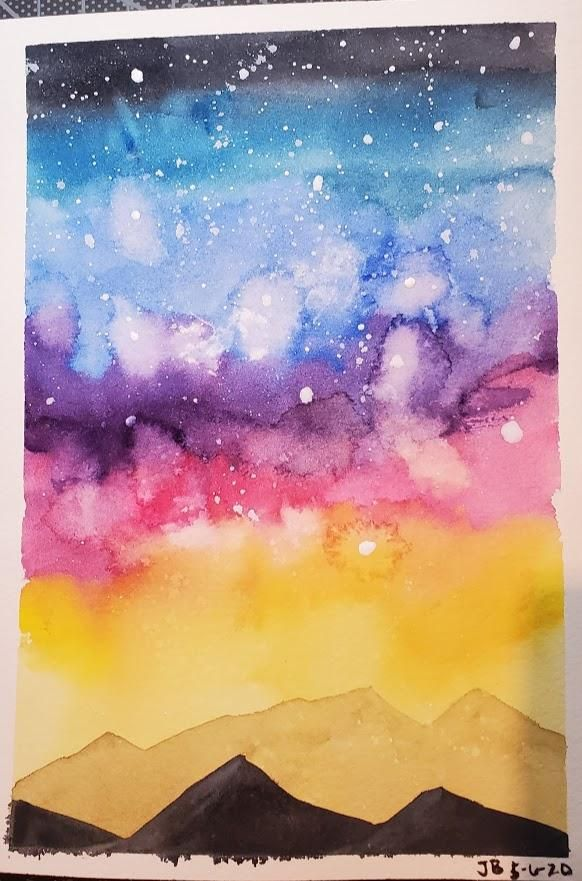 Galaxy with Mountains - image 1 - student project