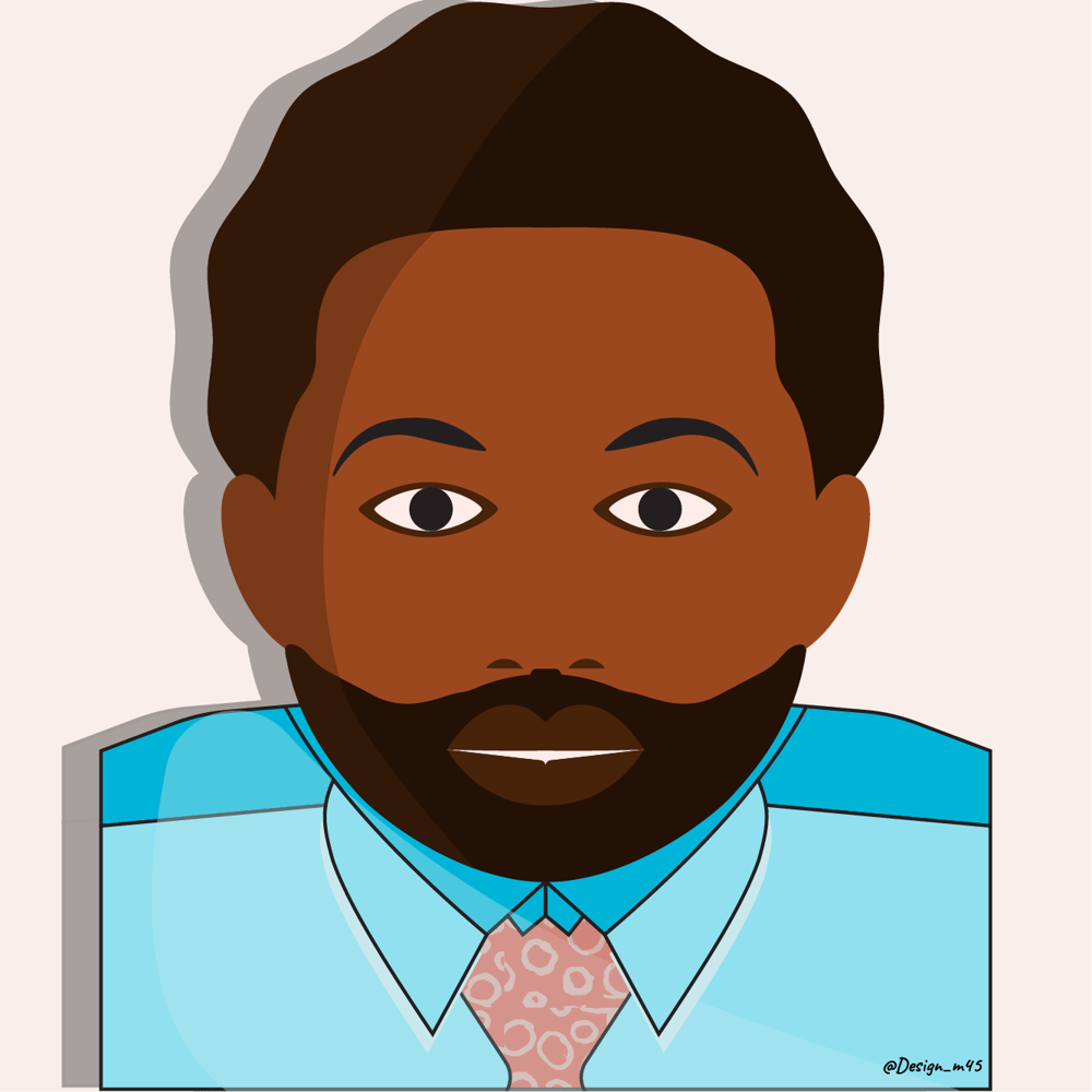 My minimal vector self-portrait - image 1 - student project